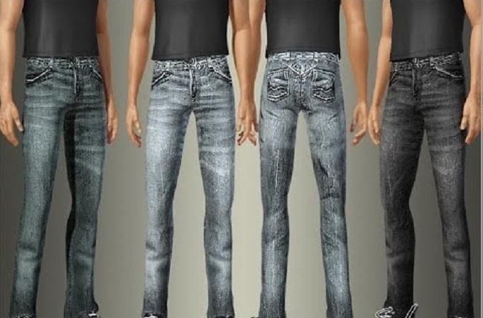 Парни в зауженных джинсах