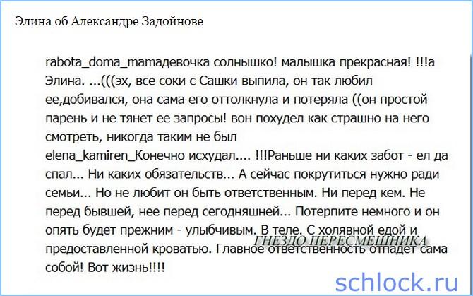 Элина об Александре Задойнове