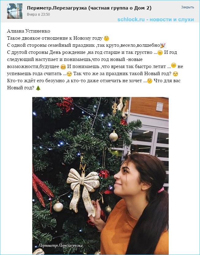 Алиана Устиненко. Отношение к Новому году