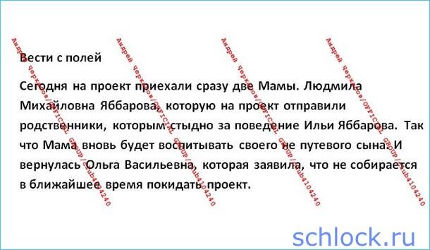 Новости от Черкасова (29 января)