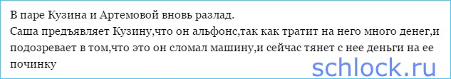 Артемова обозвала Кузина альфонсом!