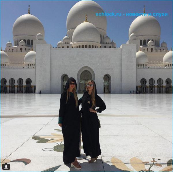 Марина Африкантова с мамой в Дубае 26.03.16