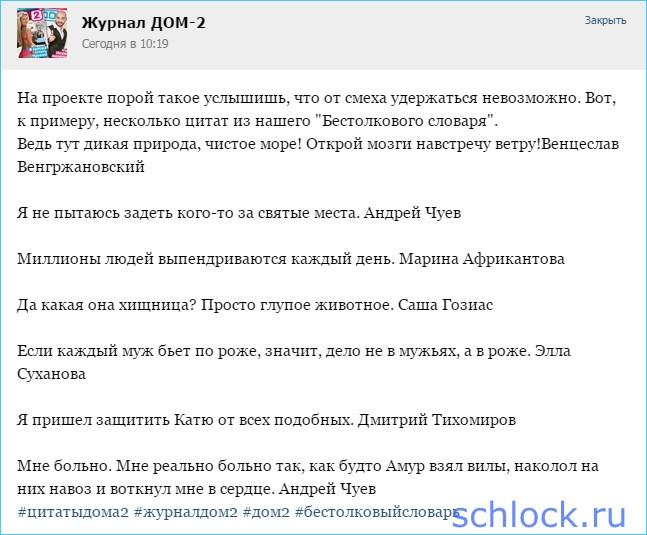 """Цитаты из """"Бестолкового словаря"""" дома 2"""