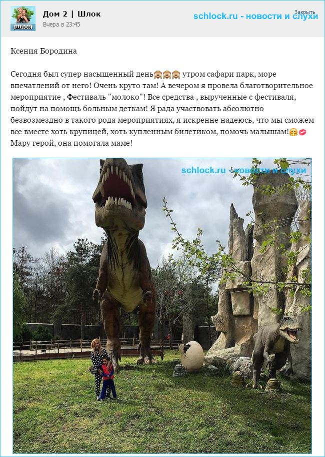 Ксения Бородина провела благотворительное мероприятие