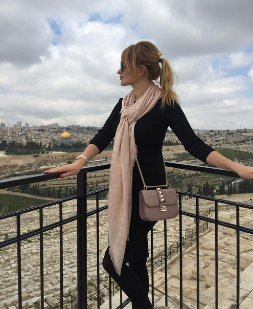 Елена Бушина с семьей в Израиле