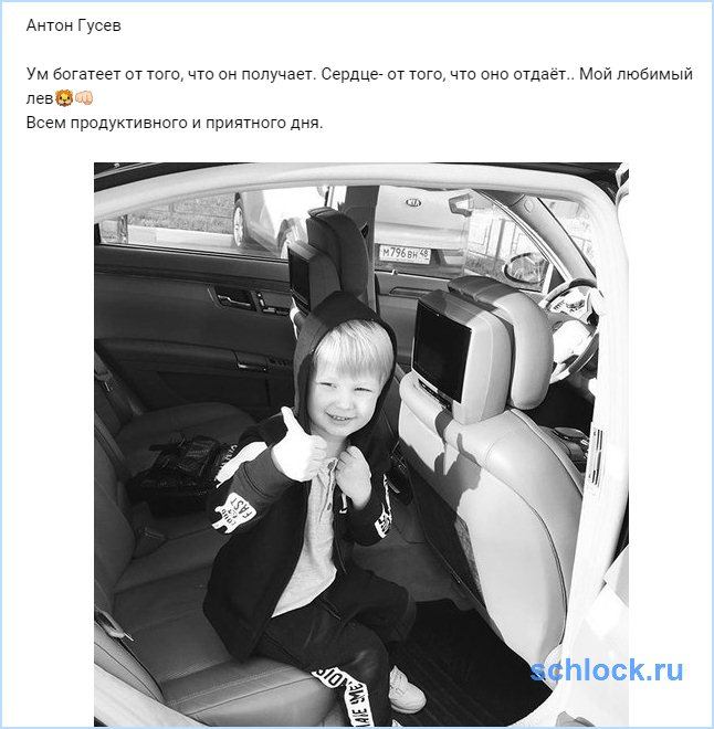 Антон Гусев и его любимый лев