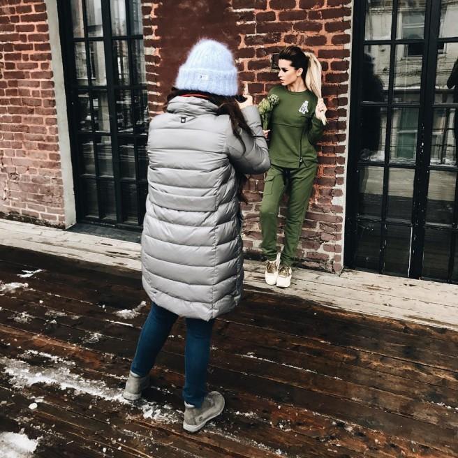 Съёмки для нового магазина Ксении Бородиной