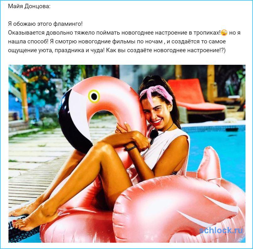 Как Донцова ловит новогоднее настроение?