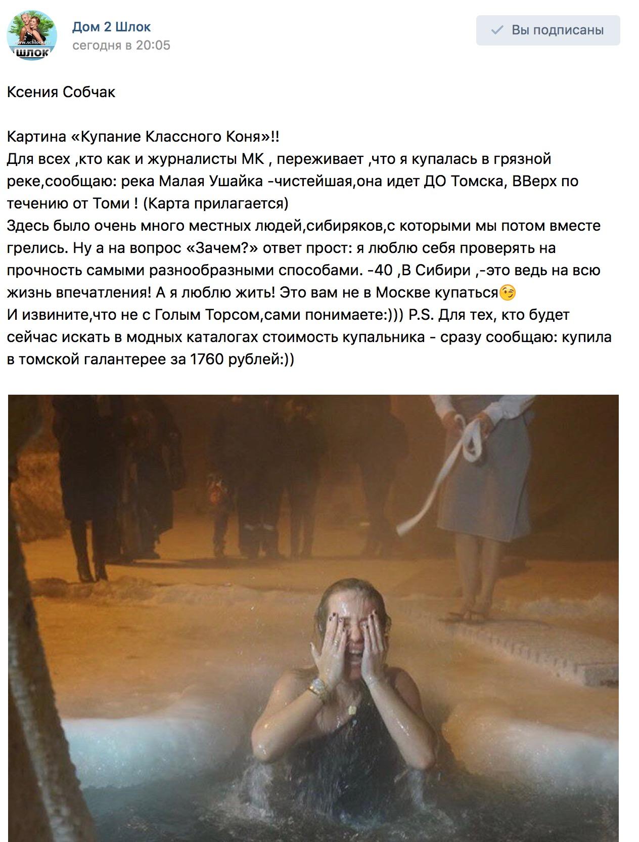 Ксения Собчак. Картина «Купание Классного Коня»
